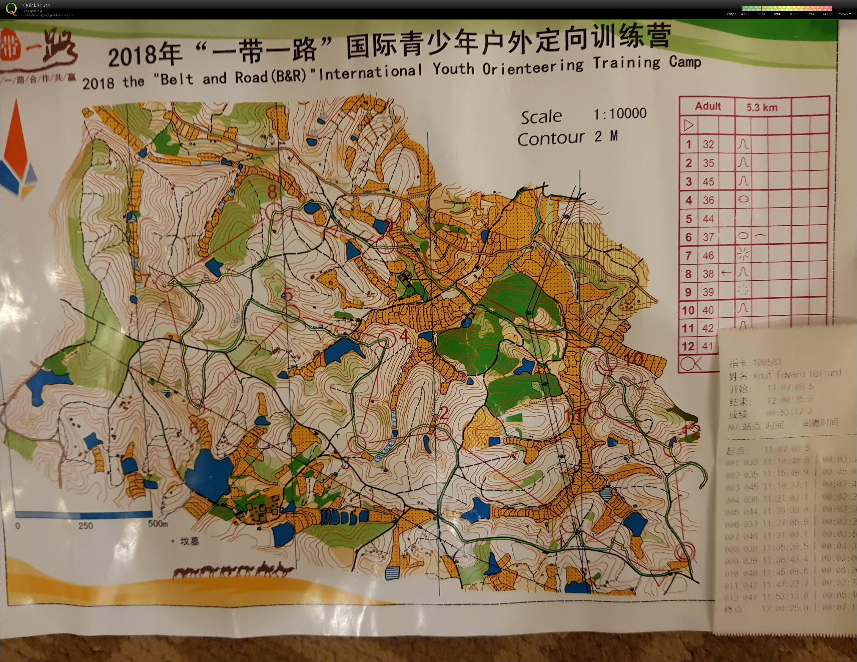 Belt and Road International Youth Orienteering Camp (25.10.2018)