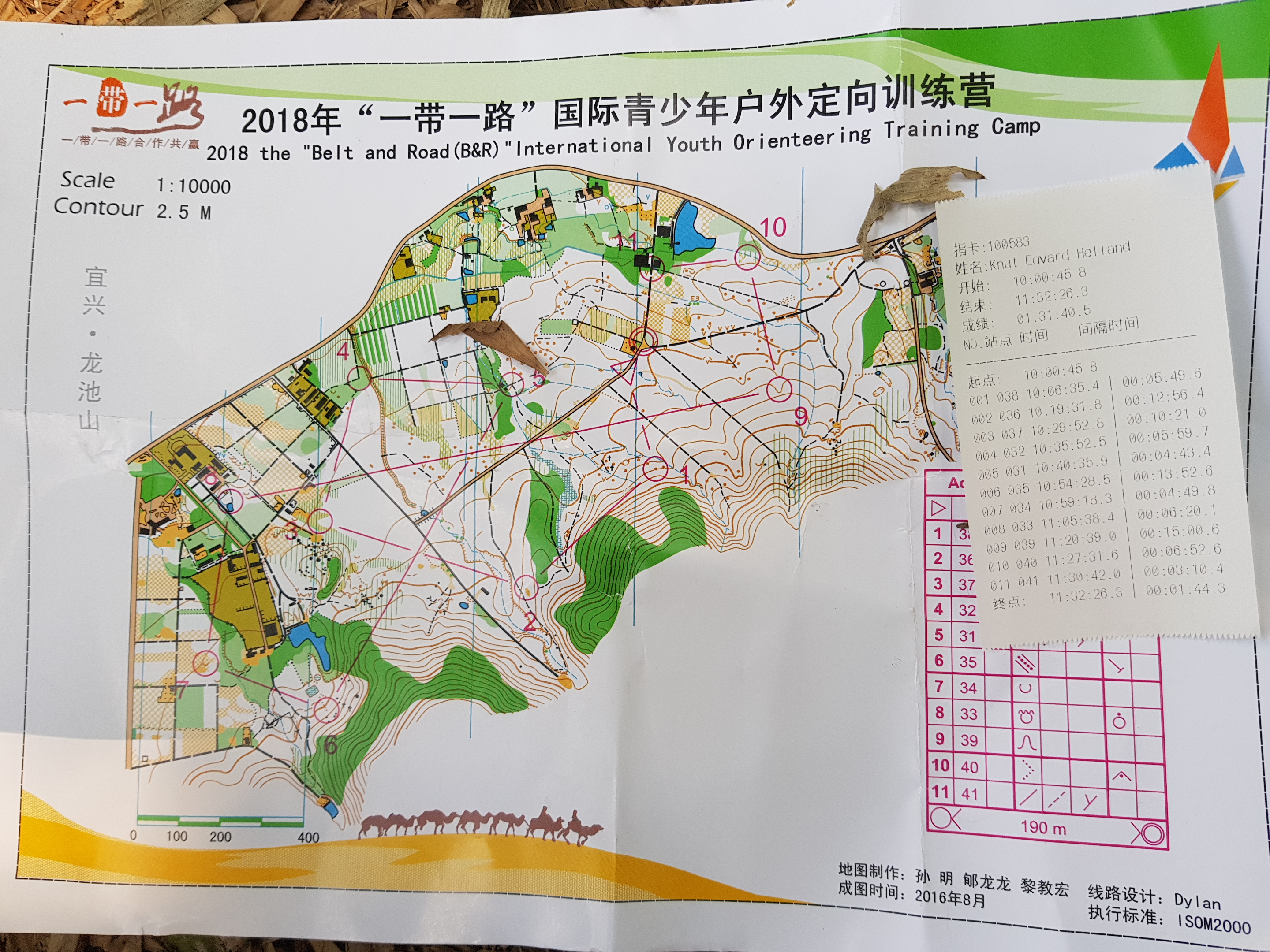 Belt and Road International Youth Orienteering Camp (31.10.2018)