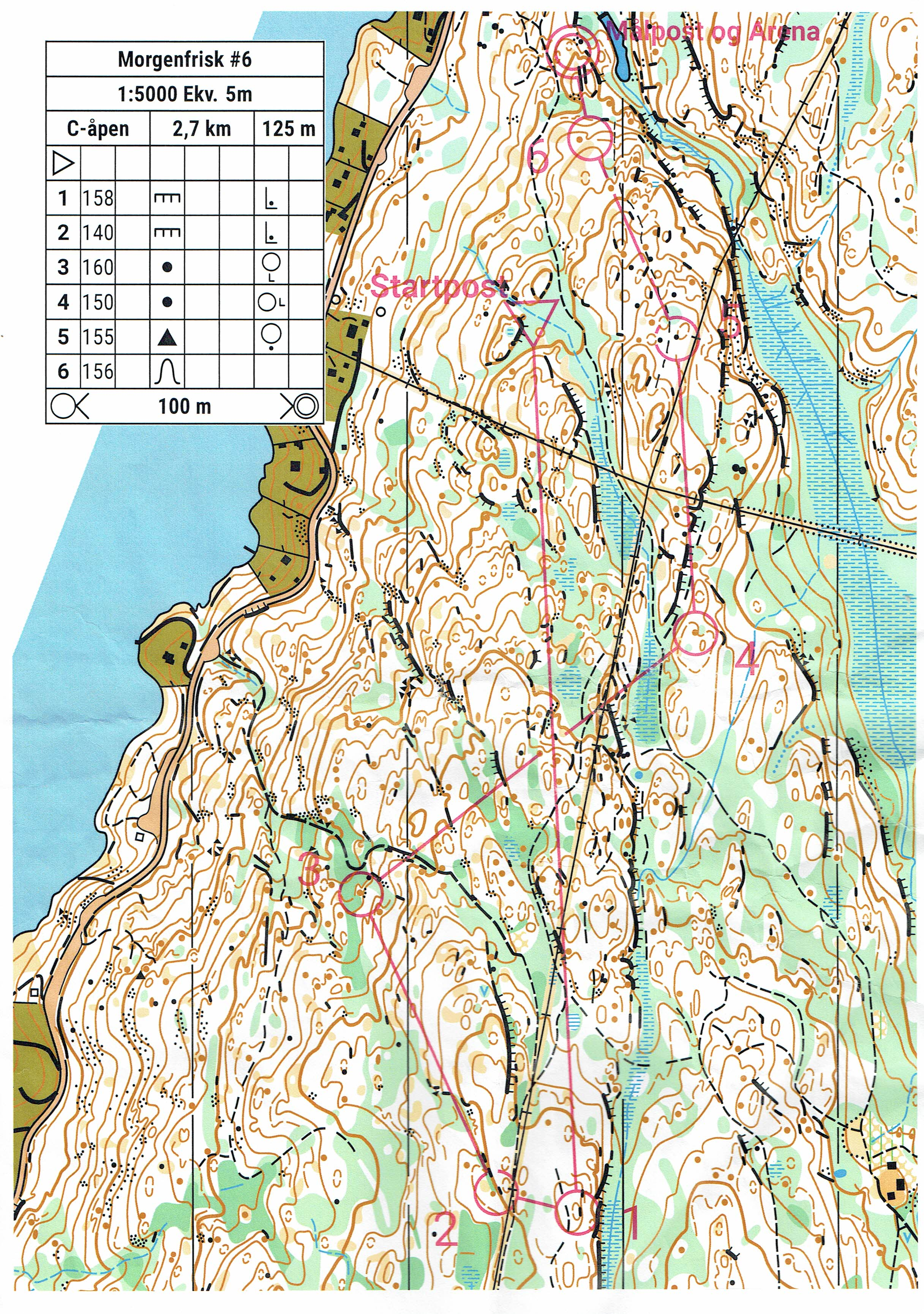 Morgenfrisk I Follo August 3rd 2019 Orienteering Map From Ping Ouyang