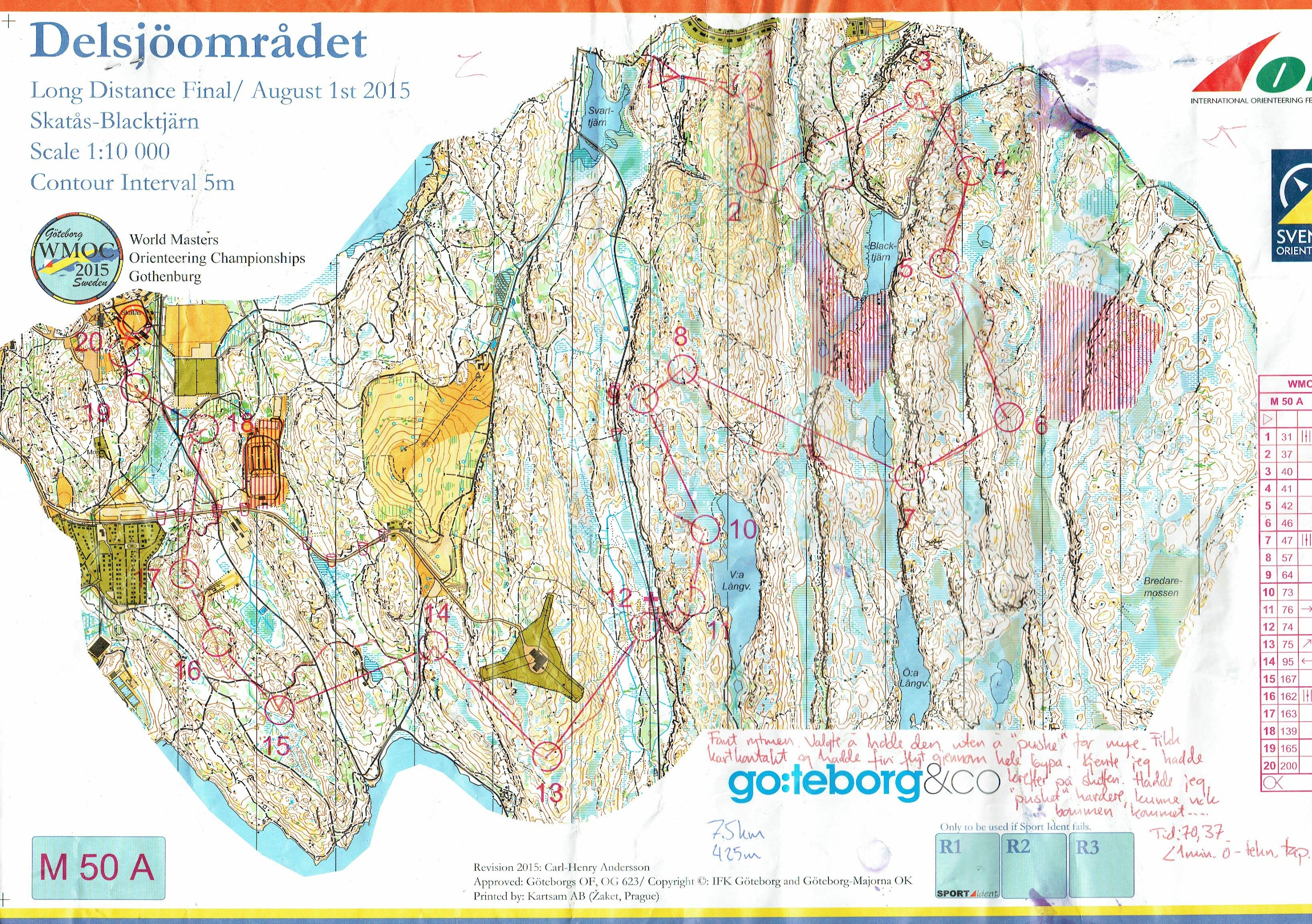 World Masters Orienteering Championships (01/08/2015)