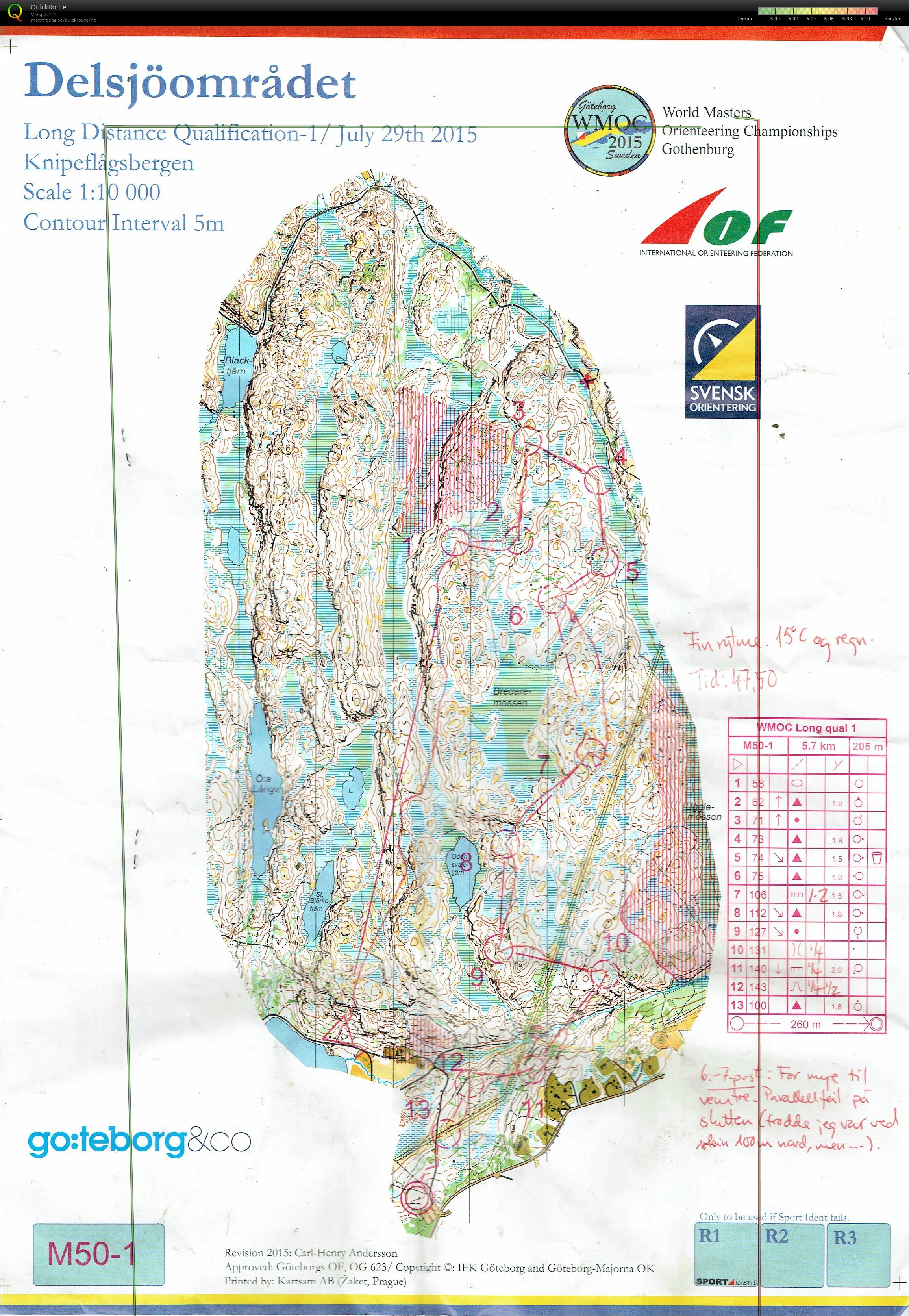 World Masters Orienteering Championships (29.07.2015)